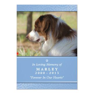 """Pet Memorial Card 5""""x7"""" Light Blue Pet's Prayer"""