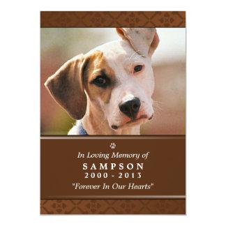 """Pet Memorial Card 5""""x7"""" Medium Brown Photo"""