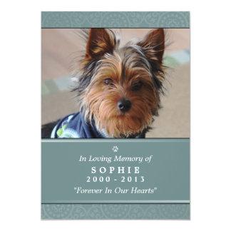 Pet Memorial Card 5x7 Teal Prayer for Pets