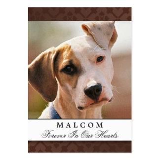 Pet Memorial Card Brown Contented Poem