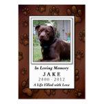 Pet Memorial Card - Chocolate Brown Photo Frame Business Card Template