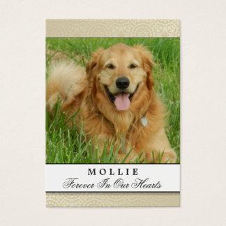 Pet Memorial Card Creme Modern Do Not Weep Poem