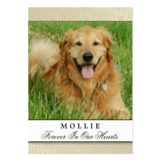 Pet Memorial Card Creme Modern Do Not Weep Poem Large Business Cards (Pack Of 100)