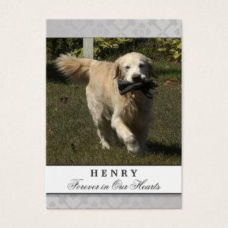 Pet Memorial Card Light Gray Do Not Weep Poem