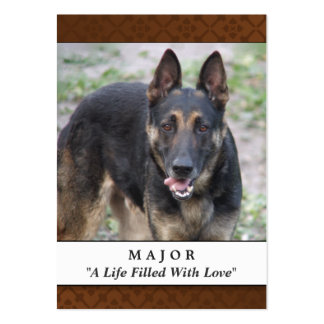 Pet Memorial Card Medium Brown - Don't Grieve Large Business Cards (Pack Of 100)