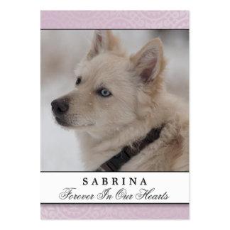 Pet Memorial Card Soft Pink - Do Not Mourn Poem