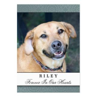 Pet Memorial Card Teal - Contented Poem