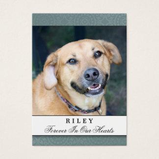 Pet Memorial Card Teal - Do Not Weep Poem