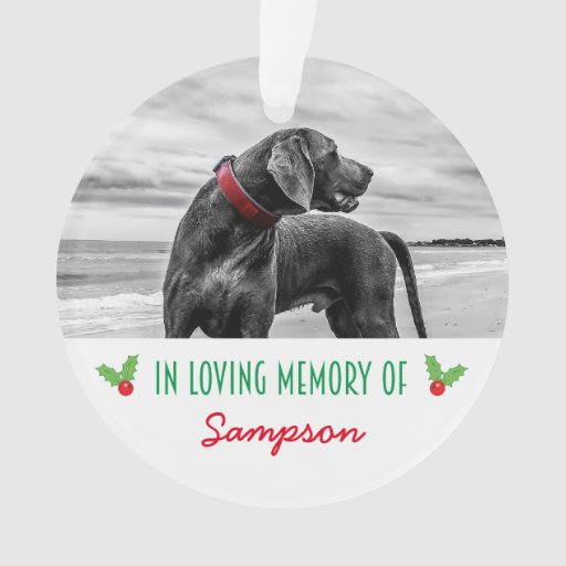 Great Gifts For Dog Lovers | Christmas Memorial Ornaments