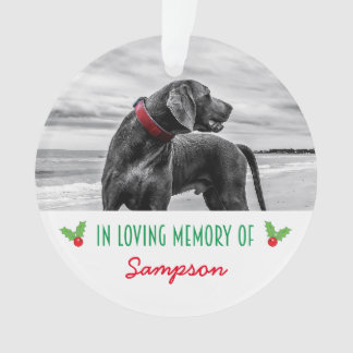 PET MEMORIAL CHRISTMAS TREE DECORATION | HOLLY ORNAMENT
