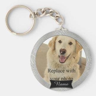 Pet Memorial Custom Photo Basic Round Button Keychain