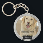 "Pet Memorial Custom Photo Keychain<br><div class=""desc"">A beautiful keepsake key chain to remember your beloved pet with. 