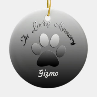 Pet Memorial Customizable Ornament