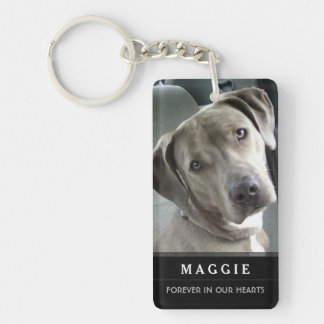Pet Memorial - Do Not Stand at My Grave Poem Double-Sided Rectangular Acrylic Keychain