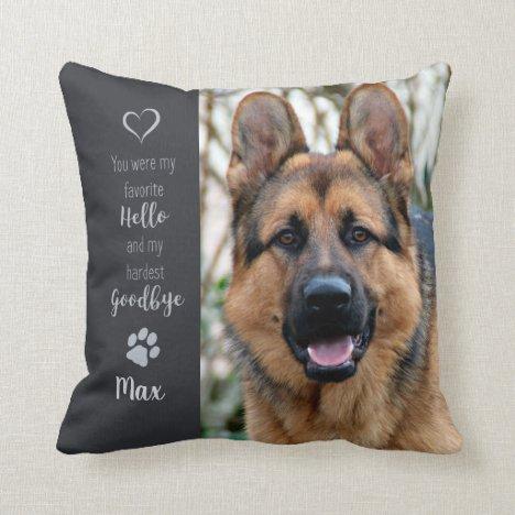 Pet Memorial - Dog Lover Gift - Pet Loss Throw Pillow