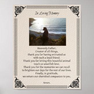 Pet Memorial Dog Prayer - Poster