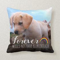 Pet Memorial | Dog Tribute 2 Photo Throw Pillow
