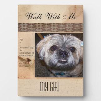 Pet memorial Forever Friend Photo Plaque