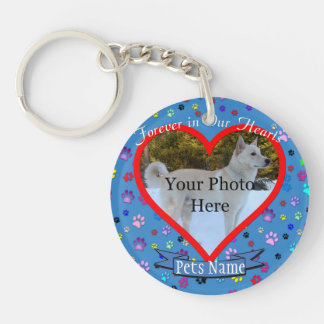 Pet Memorial - Forever In Our Hearts Keychain