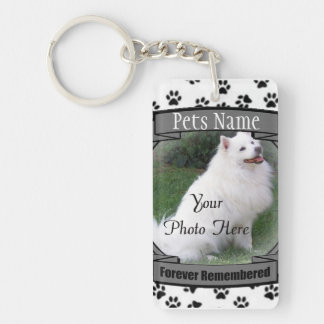 Pet Memorial - Forever Remembered - Pet Loss Dog Double-Sided Rectangular Acrylic Keychain