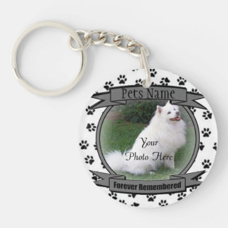 Pet Memorial - Forever Remembered - Pet Loss Double-Sided Round Acrylic Keychain