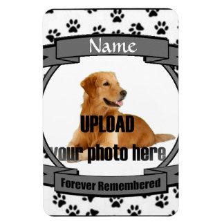 Pet Memorial -Forever Remembered Rectangular Photo Magnet