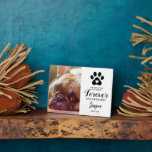 """Pet Memorial Gift   In Loving Memory Plaque<br><div class=""""desc"""">Personalized pet memorial photo plaque featuring a photo of your beloved animal,  a paw print incorporating a heart,  a sweet saying,  their name and the dates.</div>"""