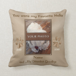 Pet Memorial Gifts, Personalized Photo Pillow at Zazzle