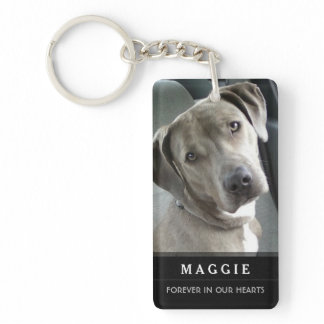 Pet Memorial God Saw Her Getting Tired Poem-Female Keychain