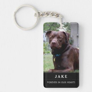 Pet Memorial - God Saw Him Getting Tired Poem Male Double-Sided Rectangular Acrylic Keychain