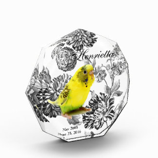Pet Memorial Keepsake Celebration Of Life Acrylic Award