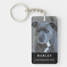 Pet Memorial Keychain - In Our Hearts Poem at Zazzle