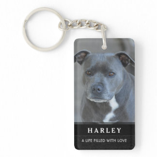Pet Memorial Keychain - In Our Hearts Poem