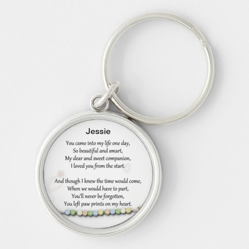 Pet memorial keychain - Paw prints on my heart