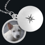 """Pet Memorial Locket - Silver Plated<br><div class=""""desc"""">Remember your pet with a pretty silver plated pet memorial locket.  Also available in a gold finish,  or in sterling silver.  Add your own photo and some text with your pet's name.  Makes a great gift for a dog lover.</div>"""