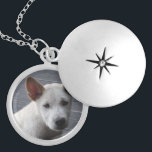 "Pet Memorial Locket - Silver Plated<br><div class=""desc"">Remember your pet with a pretty silver plated pet memorial locket.  Also available in a gold finish,  or in sterling silver.  Add your own photo and some text with your pet&#39;s name.  Makes a great gift for a dog lover.</div>"