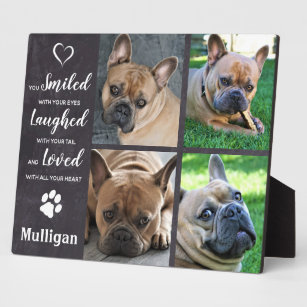 Pet Memorial Loss Quote - Rustic Photo Collage Plaque