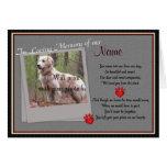 Pet Memorial Paw Prints  Announcement - Dog Cat Greeting Cards
