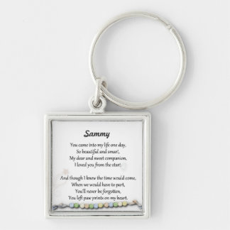 Pet memorial - Paw prints on my heart keychain