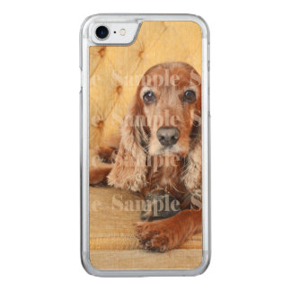 Pet memorial photo carved iPhone 7 case