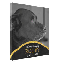 Pet Memorial Photo Custom Personalized Name Canvas Print