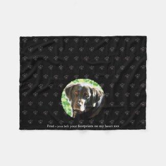 Pet Memorial Photo Fleece Comfort Grieving Blanket