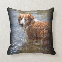 Pet memorial photo forever keepsake throw pillow