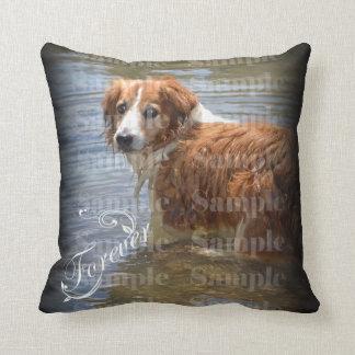 Pet memorial photo forever keepsake throw pillow
