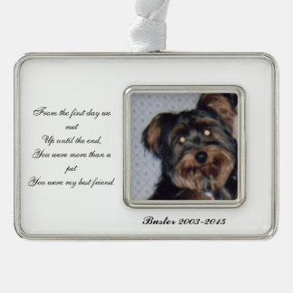 Pet Memorial Photo Ornament