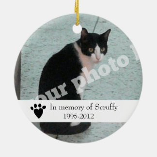 Pet Memorial Photo Ornament Dog or Cat Customized