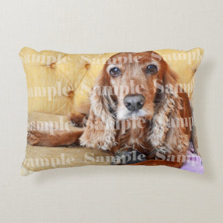 Pet memorial photo PERSONALIZE Accent Pillow