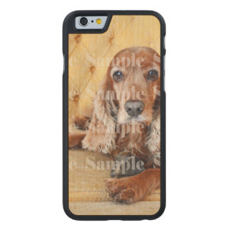 Pet memorial photo PERSONALIZE Carved Maple iPhone 6 Case