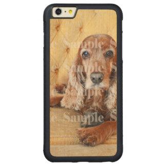 Pet memorial photo PERSONALIZE Carved Maple iPhone 6 Plus Bumper Case