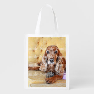 Pet memorial photo PERSONALIZE Grocery Bag